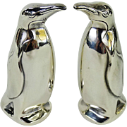 David Andersen Norway Sterling Figural Penguin Salt and Pepper Shaker Set