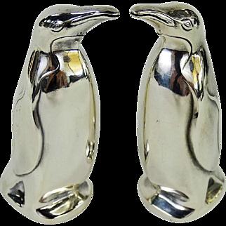 David Andersen Norway Sterling Figural Penguin Salt and Pepper Shaker Set