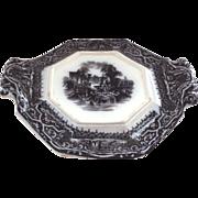 Rare 19th Century Adams Athens Mulberry Trivet/Sauce Underplate