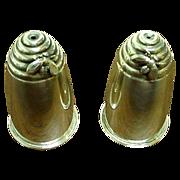 Superb Sterling Silver Gorham Figural Beehive Salts w/Bees