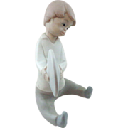 Lladro #4613 Boy With Cymbals Retired Matte Finish