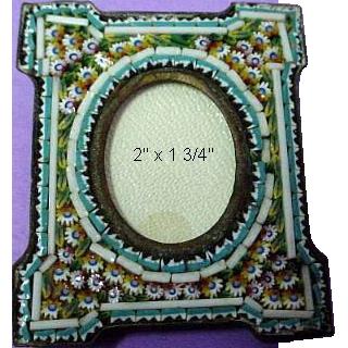 Antique Micromosaic/Micro Mosaic Miniature Frame