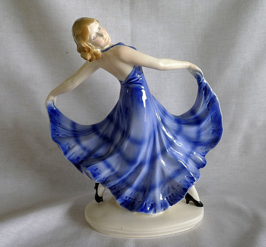 Erphila  Germany  Art  Deco  Porcelain  Dancing  Figurine