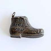 Rare  Vintage  Victorian  Figural Shoe  Tape  Measure