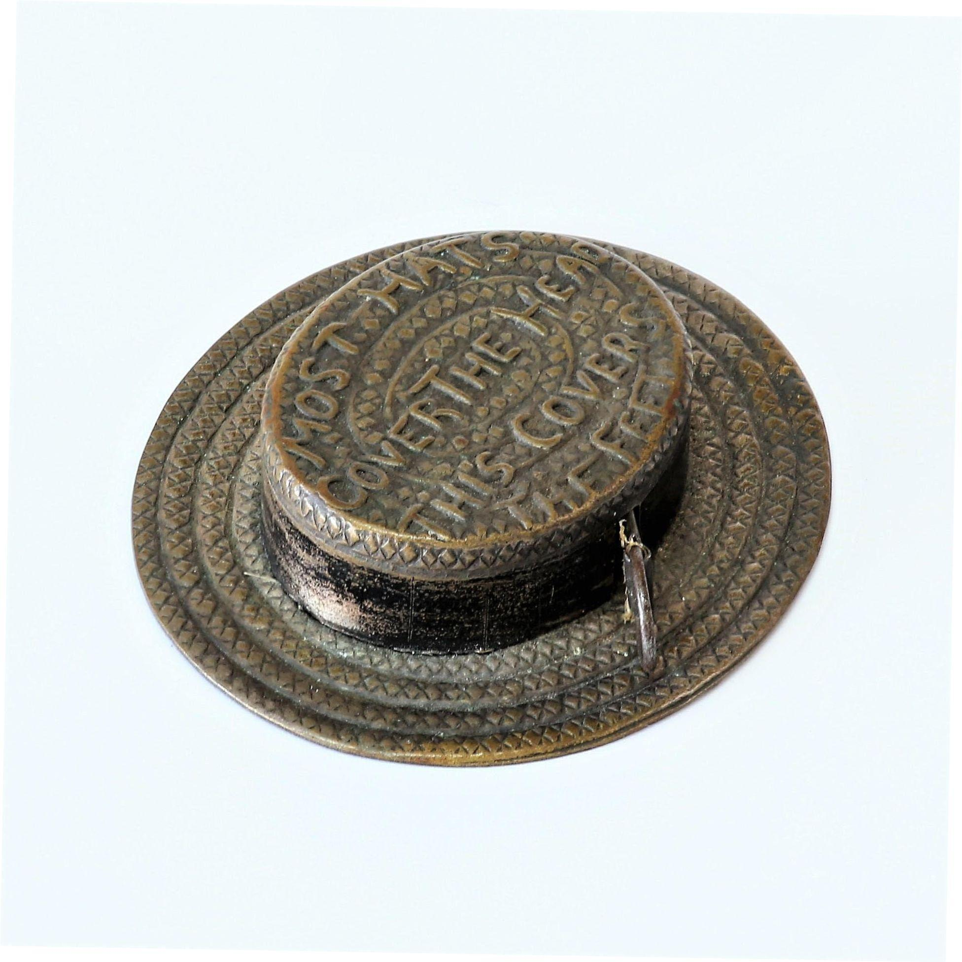 Unique  Vintage  Victorian  Straw  Hat  Tape  Measure