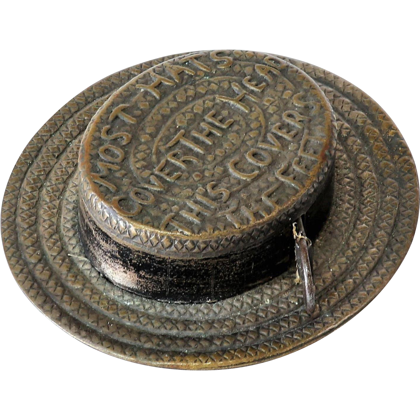 unique vintage straw hat measure from the