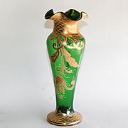Circa 1890 Massive Meyr's Neffe Jugendstil Vase