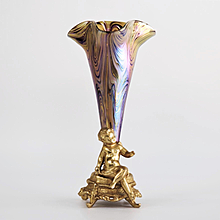 Circa 1890 Rindskopf Jugendstil Figural Cherub Vase