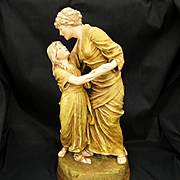 Antique Dated 1896 Signed Royal Dux Mother & Child Figurine