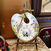 Rare Museum Quality French Porcelain Pallette Clock