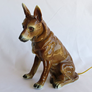 Very Cute Vintage Porcelain Figural Dog Night Lite