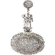 Circa 1890 800 Silver Austrian Figural Berry Server