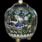 Antique Japanese Cloisonne Ginger Jar