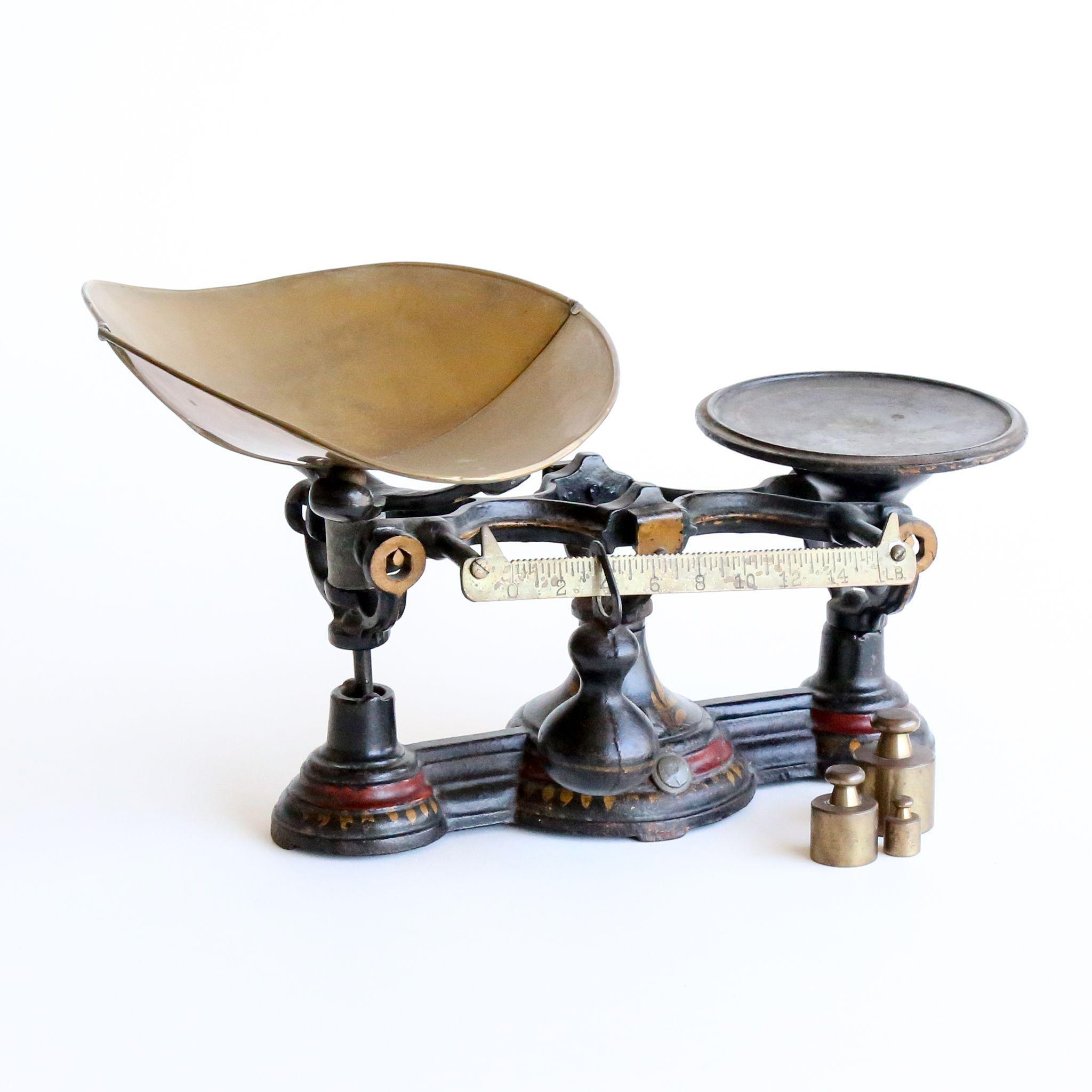 Circa 1860 Antique Victorian Brass & Iron Scales