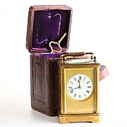 Circa 1880 Goldsmiths Vincenti et Cie Carriage Clock