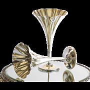 Pair Vintage Signed Tiffany 925 Sterling Silver Vases