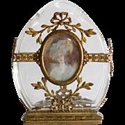 Circa 1910 Antique French Portrait Vase