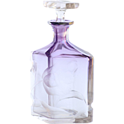 Circa 1910 Antique Moser Intaglio Cut Perfume