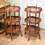 Vintage Circa 1920's Inlaid French Revival End Tables