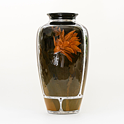 Magnificent Dated 1900 Silver Overlay Rookwood Vase