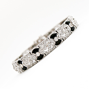 Beautiful Art Deco Lady's 18K Diamond & Onyx Bracelet