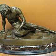Victorian Era Bronze Of Fallen Warrior