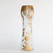 Exquisite Circa 1890 Antique Mont Joye Enameled Vase