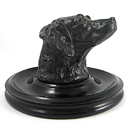 Circa 1860 Victorian Figural Dog Inkwell
