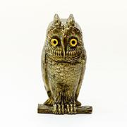 Circa  1870  Victorian  Figural  Owl  Inkwell
