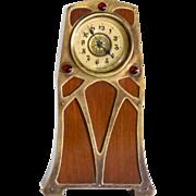 Circa 1890 Antique Art Nouveau Jeweled Clock
