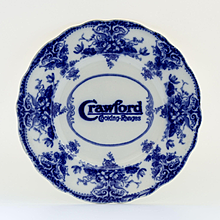 Circa 1900 Flow Blue Advertising Plate