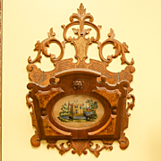 Circa 1870 Ornate Victorian Walnut Hanging Magazine Rack