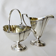Vintage International Sterling Silver Creamer and Sugar