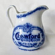 Circa 1900 Flow Blue Advertising Pitcher