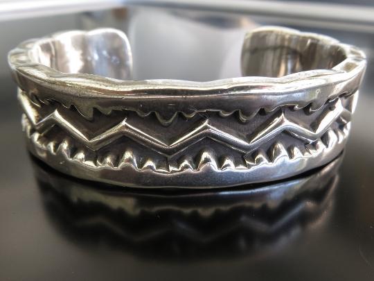 Vintage Signed Emerson Sterling Cuff Bracelet