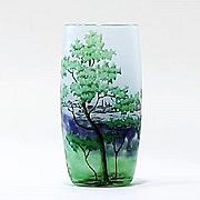 Circa 1900 Signed Daum Nancy Cameo Glass Vase