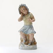 Antique German Bisque Statue
