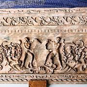 Antique Religious Artifact Marble Fresco