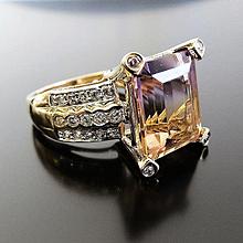 Lady's 14K Ametrine and Diamond Ring