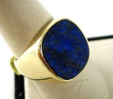 Vintage Gent's 14K Lapis Ring