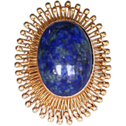 Lady's 14K Vintage Art Deco Lapis Ring
