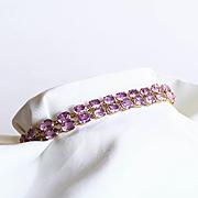 Lady's Vintage 14K Amethyst Bracelet