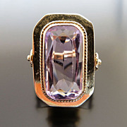 Lady's Circa 1920's Art Deco 14K Amethyst Ring