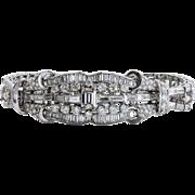 Amazing lady's Vintage Art Deco Platinum 11.17 Carat Diamond Bracelet