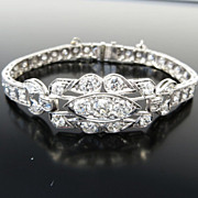 Exquisite Circa 1910 Edwardian Lady's Platinum & Diamond Bracelet