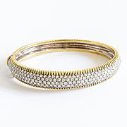 Lady's Vintage 18K 6 Carat Diamond Bangle Bracelet