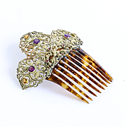 Circa 1890 Lady's Jeweled Hair Comb