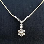 Lady's Vintage 14K Diamond Necklace