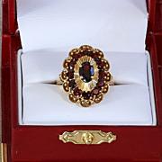 Lady's Vintage 18K Garnet Ring