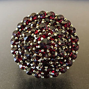 Circa 1900 Antique 14K Lady's Garnet Ring